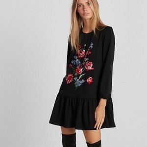 Express Embroidered Shift Dress